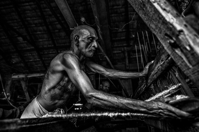 Coconut carpet makers by Marco_Tagliarino - People In Black And White Photo Contest