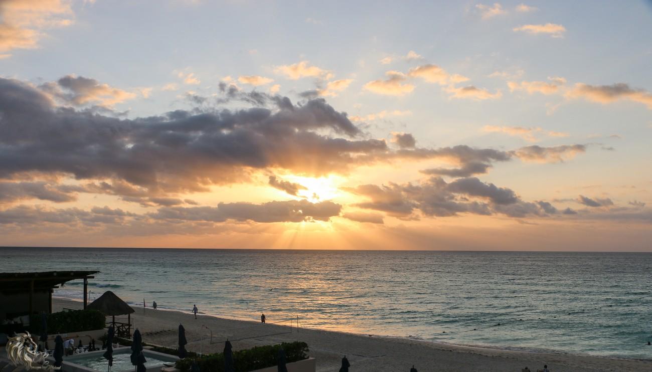 Sunrise in Cancun.