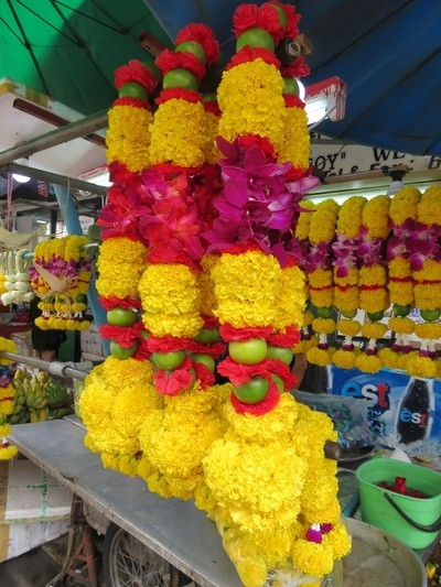 Flower arrangements for Hindu worship