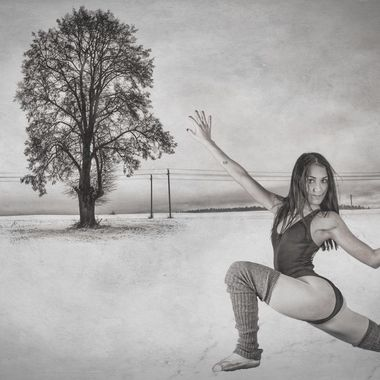The ballerina in the snow