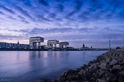 Cologne in the blue hour