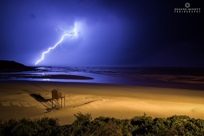 Lightning Strikes (Kenton on Sea, South Africa) by ShayneMinottPhotography - Unforgettable Landscapes Photo Contest by Zenfolio