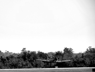 Black and White A-6 Texan Touch and Go