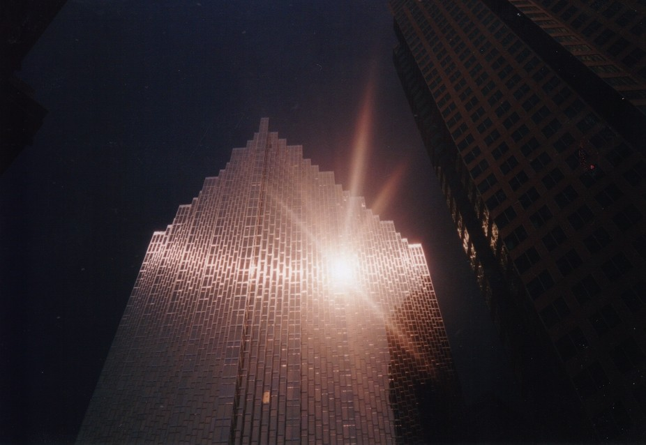 This was taken with a girlfriend's snapshot film camera more than a decade ago. The refl...