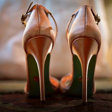 Wedding shoes for a young bride