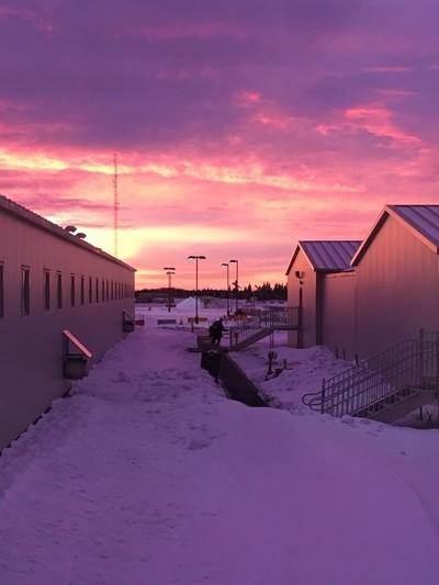 Sunset at Husky Sunrise Camp