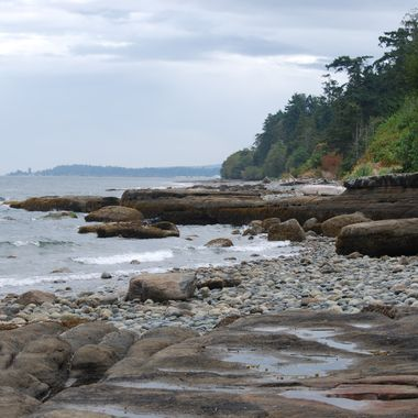 French Creek's rock carved coastline - Oceanside on Vancouver Island - Sept 2013