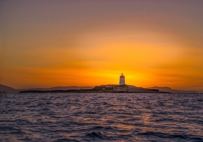 Iron Pot lighthouse sunrise Jan 2017