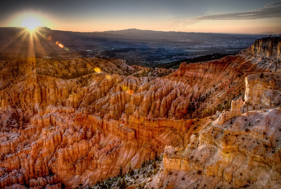 Bryce Canyon NP at sunrise.