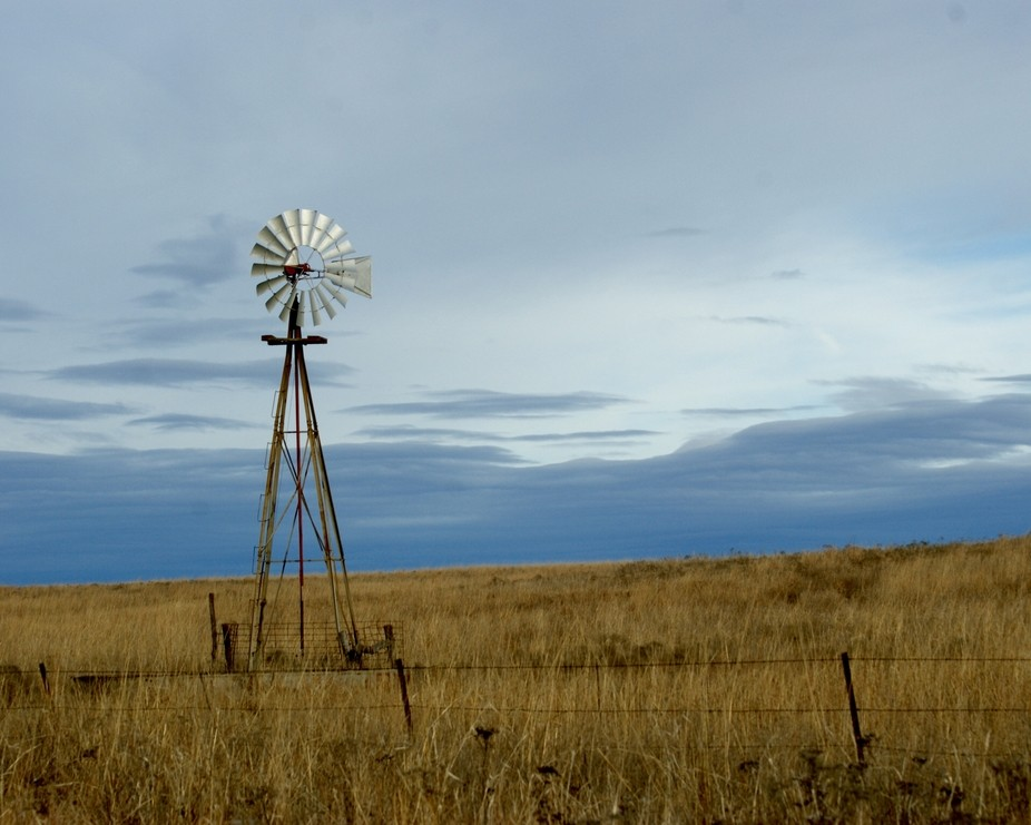 Windmill On The Prairie