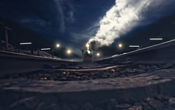 last train by joecas - Above Or Below Photo Contest