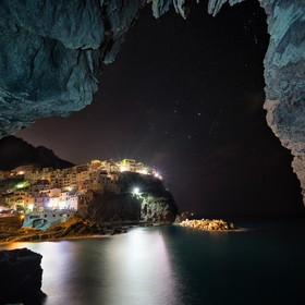 Manarola from inside a little cave, shooting here was one my best experiences in photography!