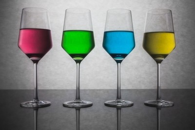 Colored Glasses of Water