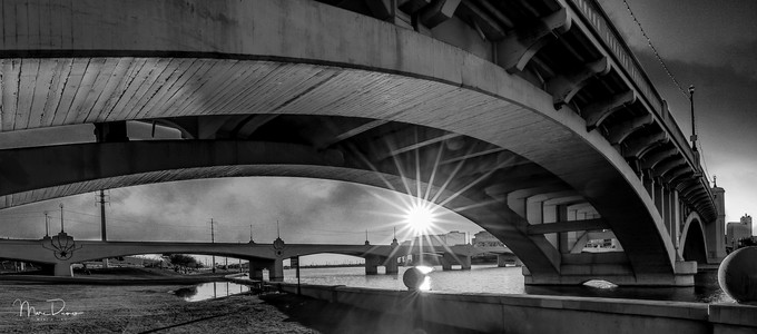 Under the bridge by marcdicino - Monochrome Creative Compositions Photo Contest