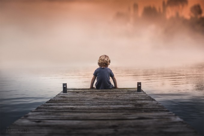 The lake at dusk by SophieJaneNZ - Children In Nature Photo Contest