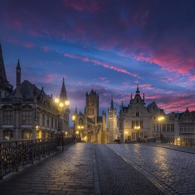 The beautitul city of Ghent at sunrise.  I took this picture during a private workshop last week-end.  It's alreday one of my favorite pictu...