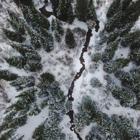 Drone shot from Guanella Pass, Colorado.