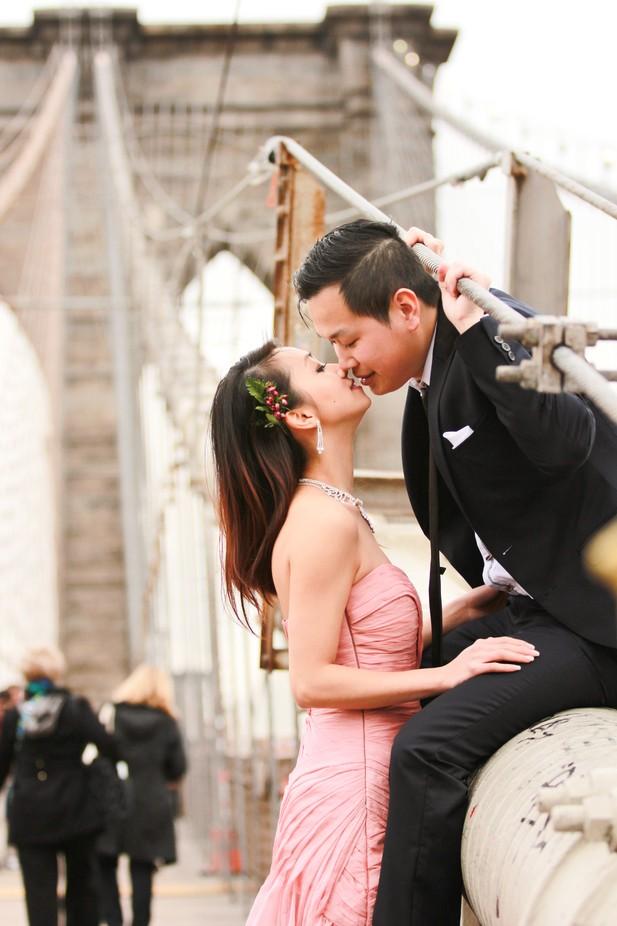 Brooklyn Bridge Love by Ricklugo - Couples In Love Photo Contest