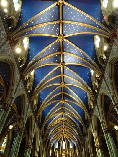 Notre-Dame Cathedral Basilica Ceiling