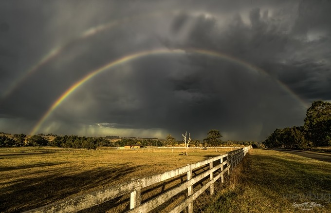 Double rainbow by LeanneMWilliams - Rainbows Overhead Photo Contest