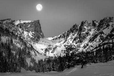 Moon Set, Sun Rise, Dream Lake