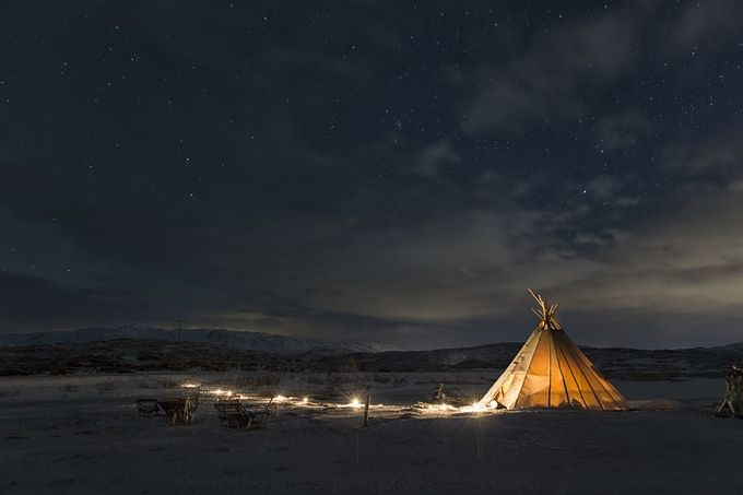 Slepping in a lavvo by zlimmen - Night Wonders Photo Contest