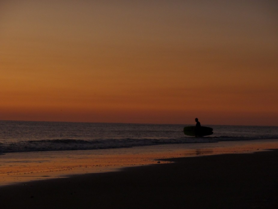 This guy went into the chilly water (60 degrees) on this beautiful flat morning on the Atlantic f...