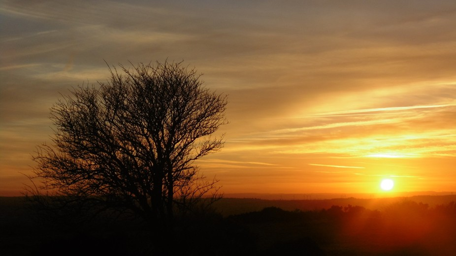 Sunset over Cleadon Hills