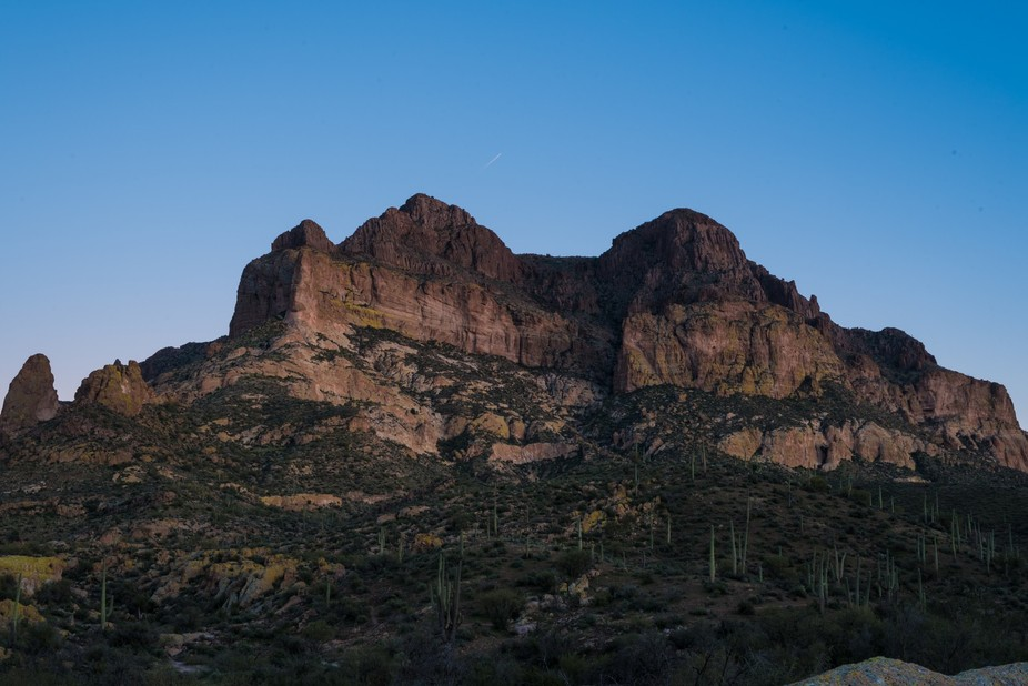 Picketpost Mountain is a 4375 foot mountain southeast of Phoenix, Arizona. This former volcano is...