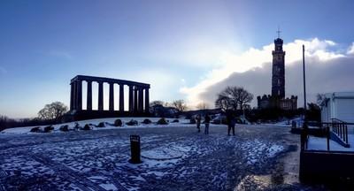 Cold morning in Edinburgh