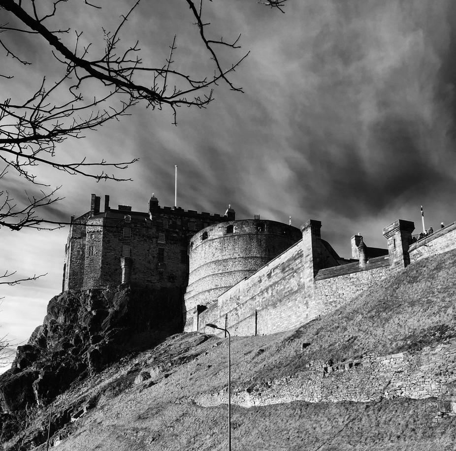 An off the cuff side shot of Edinburgh Castle
