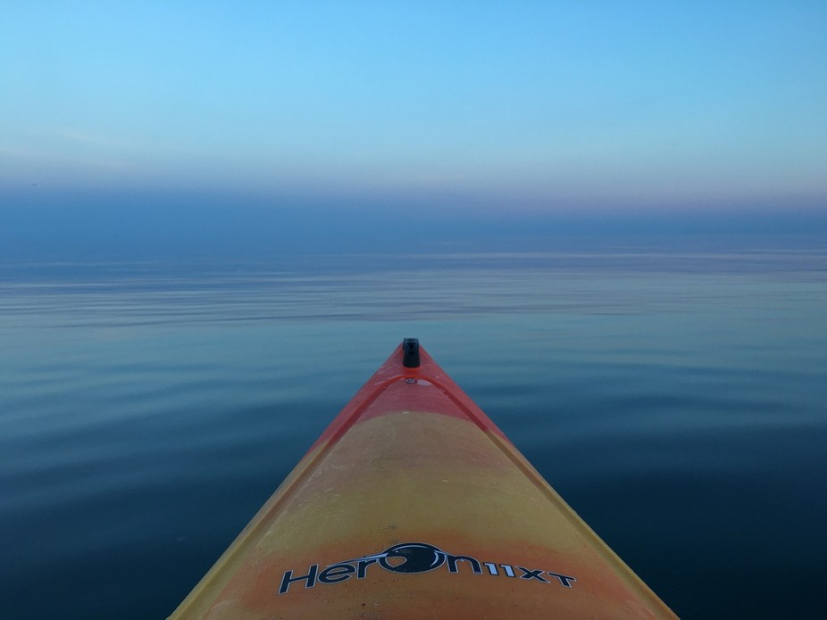 Kayaking on Lake Ontario.