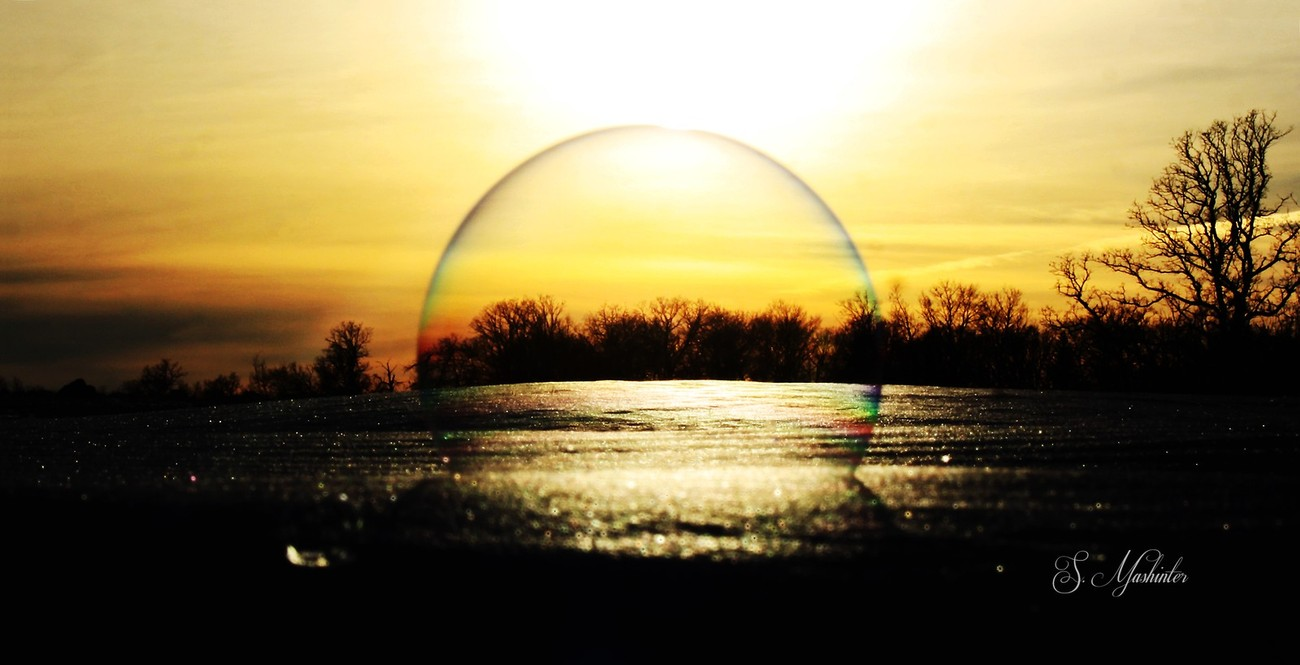 Sunset Through a Bubble