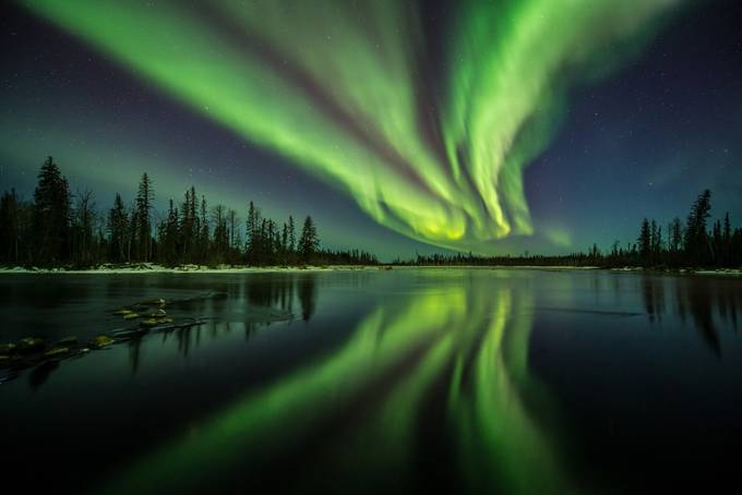 Reflected Aurora by coreyhardcastle - Nature And The Night Photo Contest