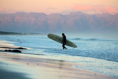 Muizenberg at sunset