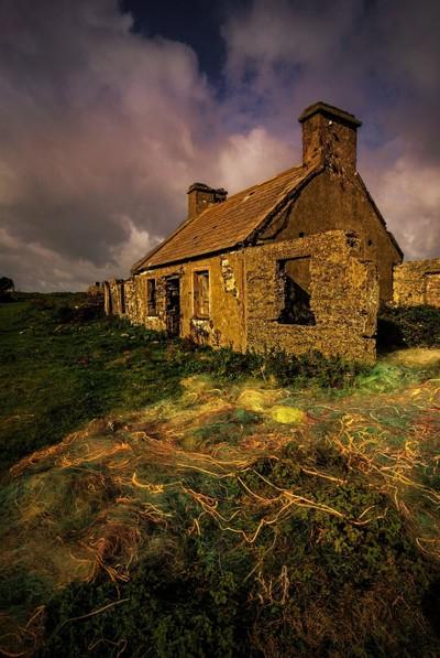 derelict fisherman's cottage