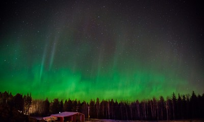 Northern Lights over the Shed