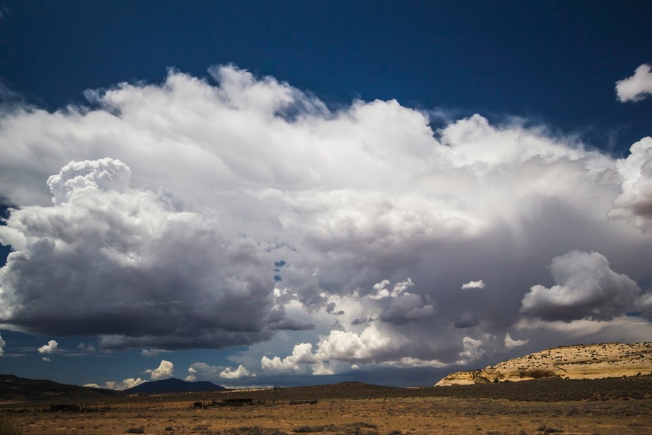 The onset of a monsoon storm building up over the northern Arizona desert (Navajo reservation)