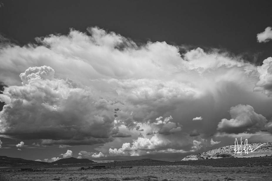 A desert monsoon storm builds and arrives over the northern Arizona desert (Navajo Reservation)