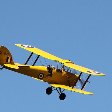 The Tiger Moth doing its turn @ the Forres Vintage Rally May 2012 — at Forres.