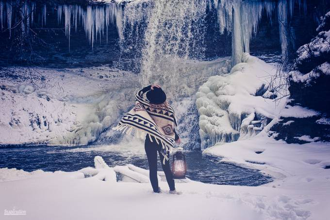 Winter Solitude by bryanmaes - People And Waterfalls Photo Contest
