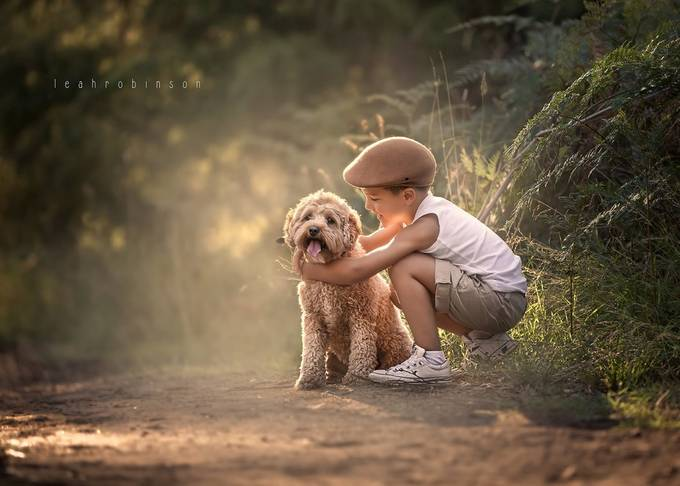 A boy and his dog by LeahRobinson - Children In Nature Photo Contest