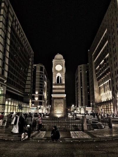 Rolex clock tower in Medina street