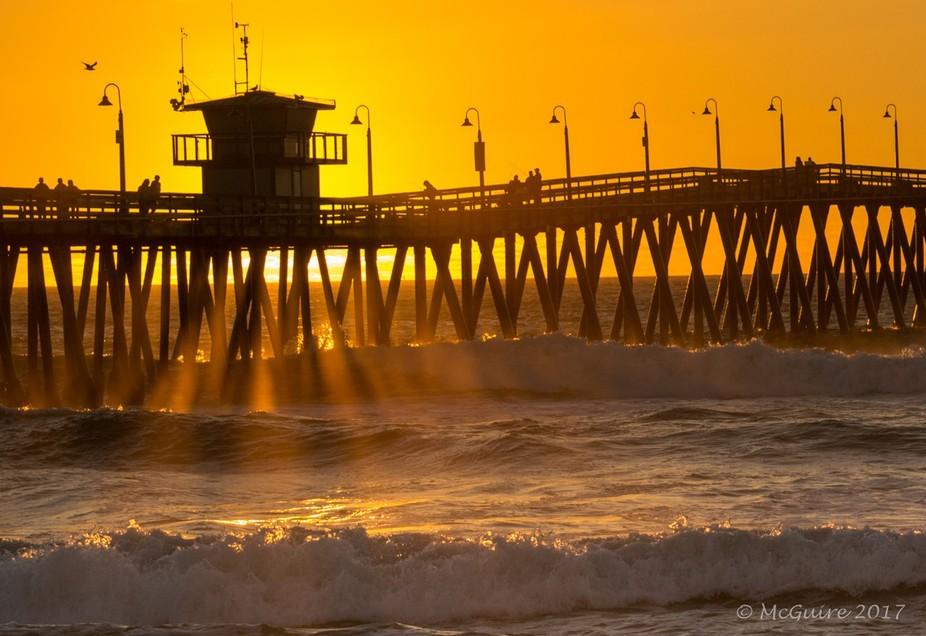 A little sunset fun a the Imperial Beach Pier, Imperial Beach California