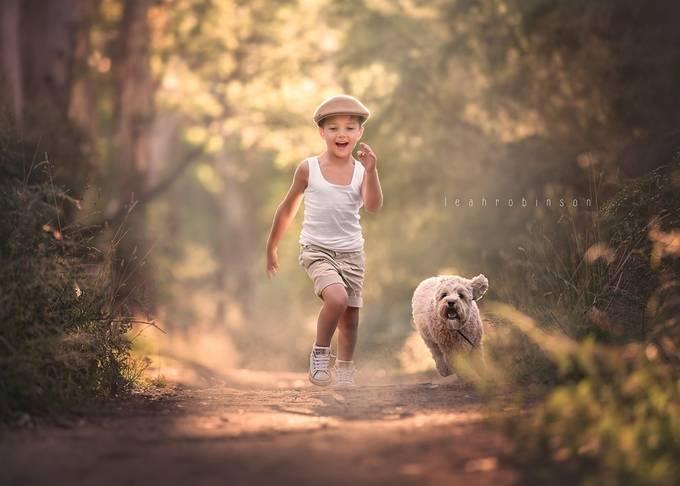I'll race ya!!!! by LeahRobinson - Kids And Pets Photo Contest