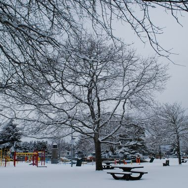 The Playground at Parksville Park in the Snow - 3 feb 2017