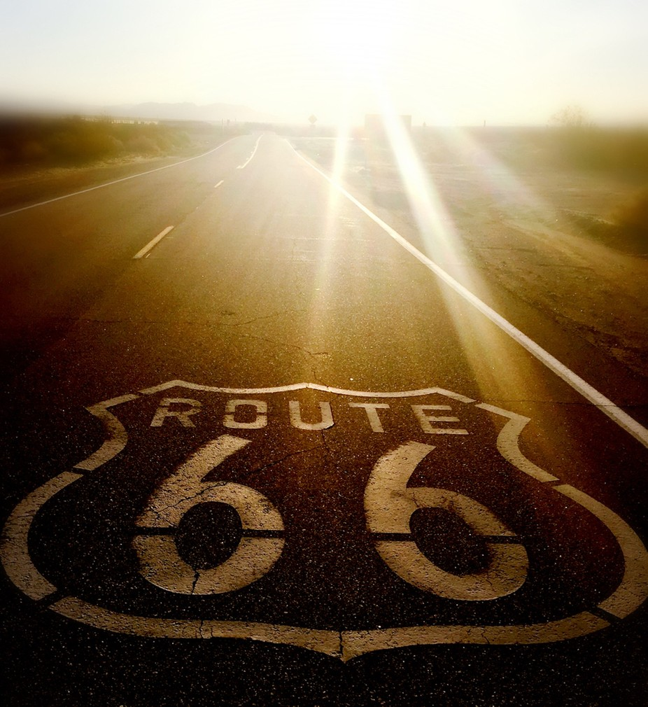 Sunrise on Route 66 by Meg83 - A Road Trip Photo Contest