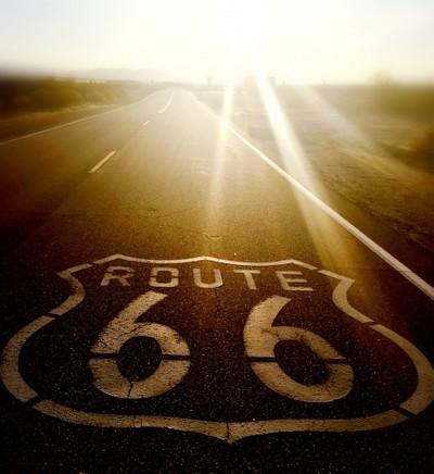 Sunrise on Route 66