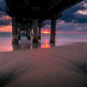 I took this image yesterday morning at the pier in Lake Worth, Florida. I was using a ND1000 filter, so I had a 30 second exposure. The sunrise p...
