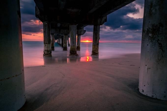 Peering Below the Pier by derekbradley - The View Under The Pier Photo Contest